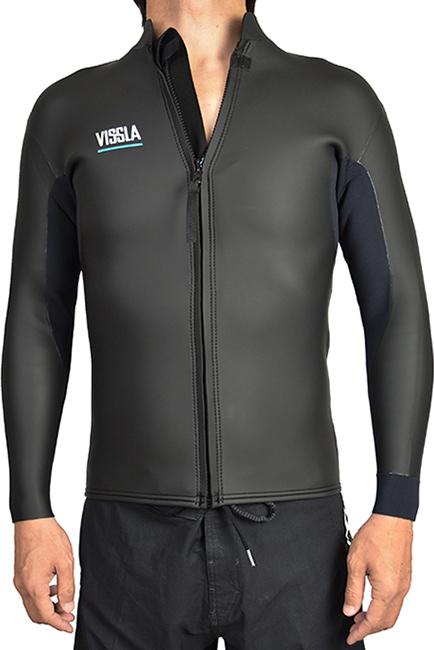 VISSLA ヴィスラ ウェットスーツ 2mm 超激得SALE NORTH SEAS FRONT ZIP 最新号掲載アイテム サーフィン SURFING 長袖 S L タッパー JACKET
