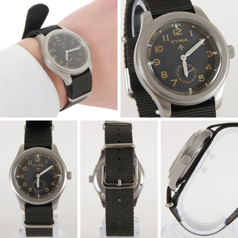 CYMA CIMA ROYAL ARMY Royal Army military watch model small seconds watch mens men «, COD fee»