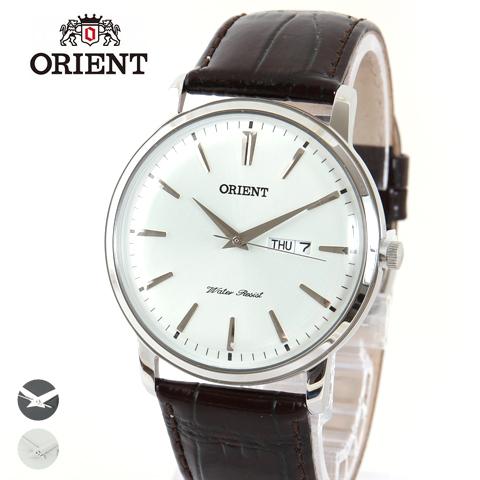 【腕時計 メンズ】ORIENT オリエント 逆輸入 海外モデル 日本製 本革 型押し レザーベルト クラシック アナログ クォーツ 腕時計 ギフト