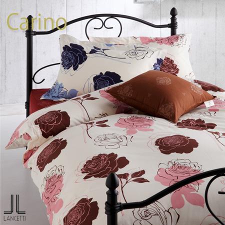 バラ柄・大振りの花柄エレガントなデザインランチェッティ「カリーノ」敷布団カバーダブルサイズ 145×215cm