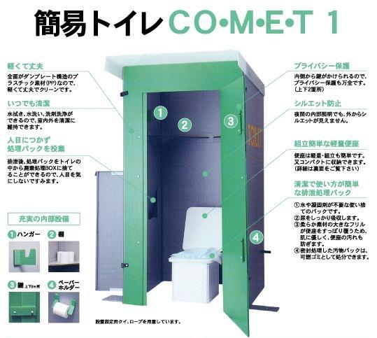 緊急時対応簡易トイレCOMET1(コメット1)