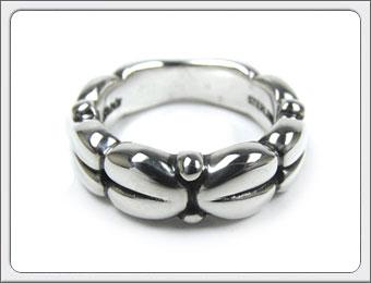 Shin's Sculpture(シンズ スカルプチャー)「8 Heart Ring(エイト ハート リング)」SILVER 925 / 7号~21号【銀 メンズ レディース ペア アクセサリー ジュエリー 指輪 立体 手彫り シンプル シルバー 925】R-12