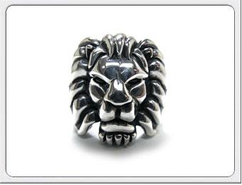 OWL'S(アウルズ)シルバー 925 「ライオンリング No.01」SILVER 925 / 14号~ 【銀 メンズ レディース アクセサリー ジュエリー レオ 獅子 ハンドメイド 具象 ハード 動物 指輪】LR-01