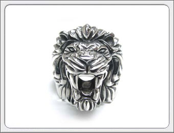 OWL'S(アウルズ)シルバー 925 「フレイムライオンリング」SILVER 925 / 17号~ 【銀 メンズ レディース アクセサリー ジュエリー レオ 獅子 ハンドメイド 具象 ハード 動物 指輪】FLR-01