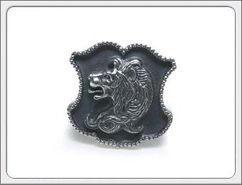 OWL'S(アウルズ)シルバー 925 「シールドリング ライオン type1&type2 」SILVER 925 / 15号~ 【銀 メンズ レディース アクセサリー ジュエリー ハンドメイド 具象 盾 獅子 指輪】シールドリング/ユリ