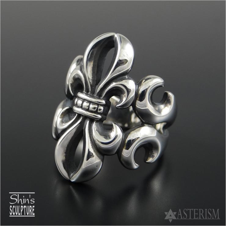 Shin's Sculpture(シンズ スカルプチャー)「Open Lily Ring(オープンリリー リング)」SILVER 925 / 13号~29号【銀 メンズ レディース ペア アクセサリー ジュエリー 透かし 百合 手彫り シルバー 925】R-5