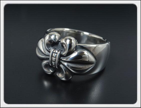 Shin's Sculpture(シンズ スカルプチャー)「Fledly Ring(フレドリー リング)」SILVER 925 / 7号~23号【銀 メンズ レディース ペア アクセサリー ジュエリー 指輪 オープン リリー 百合 立体 手彫り シンプル シルバー 925】R-16