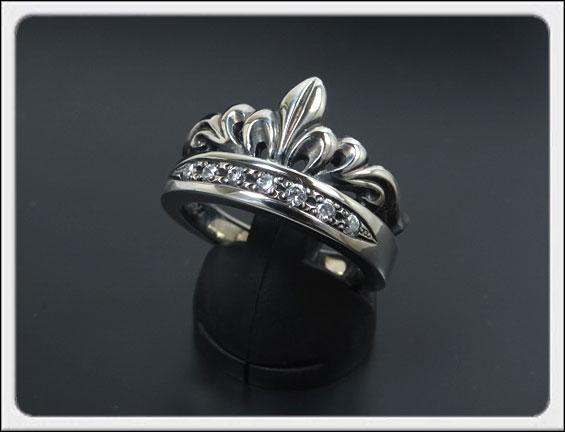 Shin's Sculpture(シンズ スカルプチャー)「Antique Tiara Ring CZ(アンティーク ティアラ リング CZ)」SILVER 925、キュービックジルコニア / 7号~23号【レディース メンズ アクセサリー ジュエリー 指輪 シルバー 925】R-30CZ