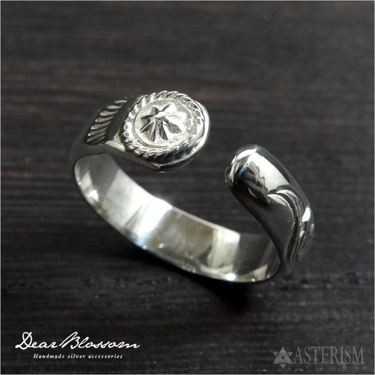 Dear Blossom(ディアブロッサム)カフリング 唐草×アポロポイント(KR009)インディアンジュエリー/唐草/指輪