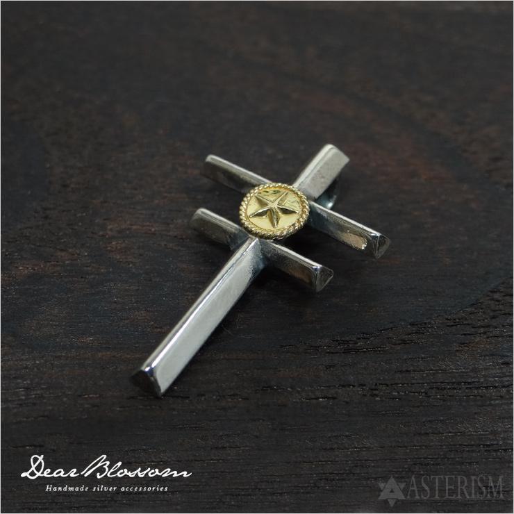 Dear Blossom(ディア ブロッサム)「DOUBLE CROSS+K18Star/ダブルクロスK18スター」(T004)インディアンジュエリー ペンダント