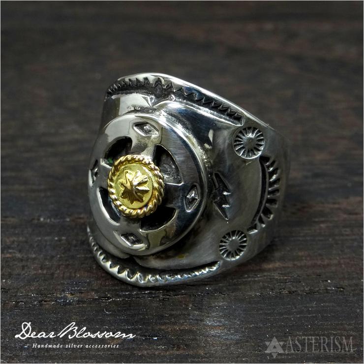 Dear Blossom(ディアブロッサム)『K18ポイント付メディスンホイールリング』(R-033)インディアンジュエリー/指輪/シルバー/ゴールド
