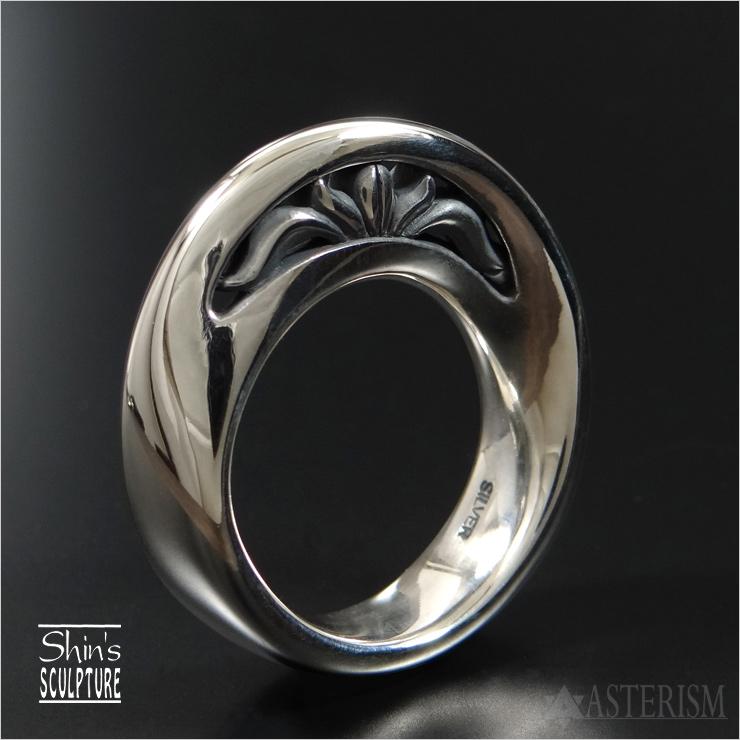 Shin's Sculpture(シンズ スカルプチャー)「Mebius Circle Ring IV(メビウス サークル リング 4)」SILVER 925【銀 アクセサリー ジュエリー 指輪 メンズ レディース ペア 透かし 唐草 アラベスク アイヴィー リングペンダント シルバー 925】R-40