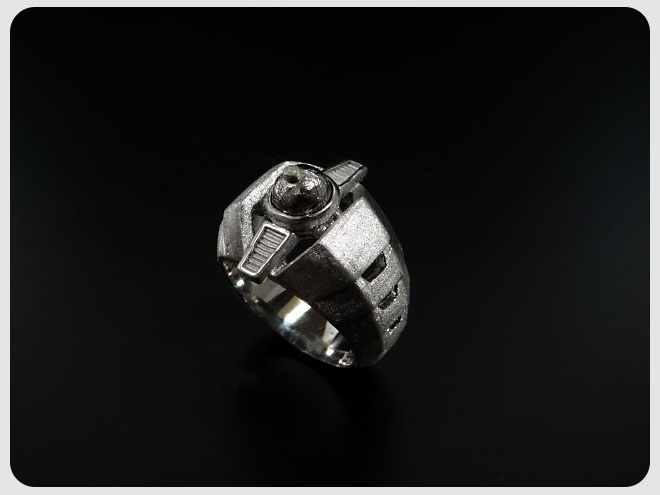 ENER エネル RING-01 EVOLUTION 進化 エボリューション SV BKギベオン隕石 メンズ リング 年末バーゲン プレミアム•学割 対象 特価 祝成人