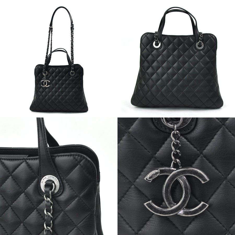 6622bfddbf9ff9 [new article] Chanel [CHANEL] matelasse 2WAY chain bag 2Way bag 21st stand  Thoth handbag shoulder bag Lady's black lambskin leather mint condition