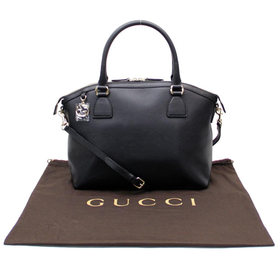 구찌 Gucci 2 Way 가방◆블랙 레더 x골드 쇠장식◆전시품◆449651 - b10062