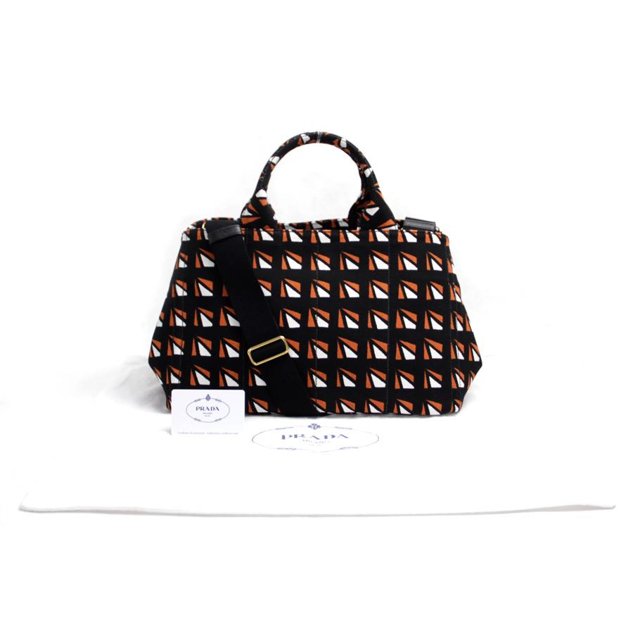 0f242a791d29 BrandValue: Prada PRADA 2Way bag kana pub rack x terra cotta x white canvas x  gold metal fittings tote bag handbag Lady's B2642B new article - b10126 ...