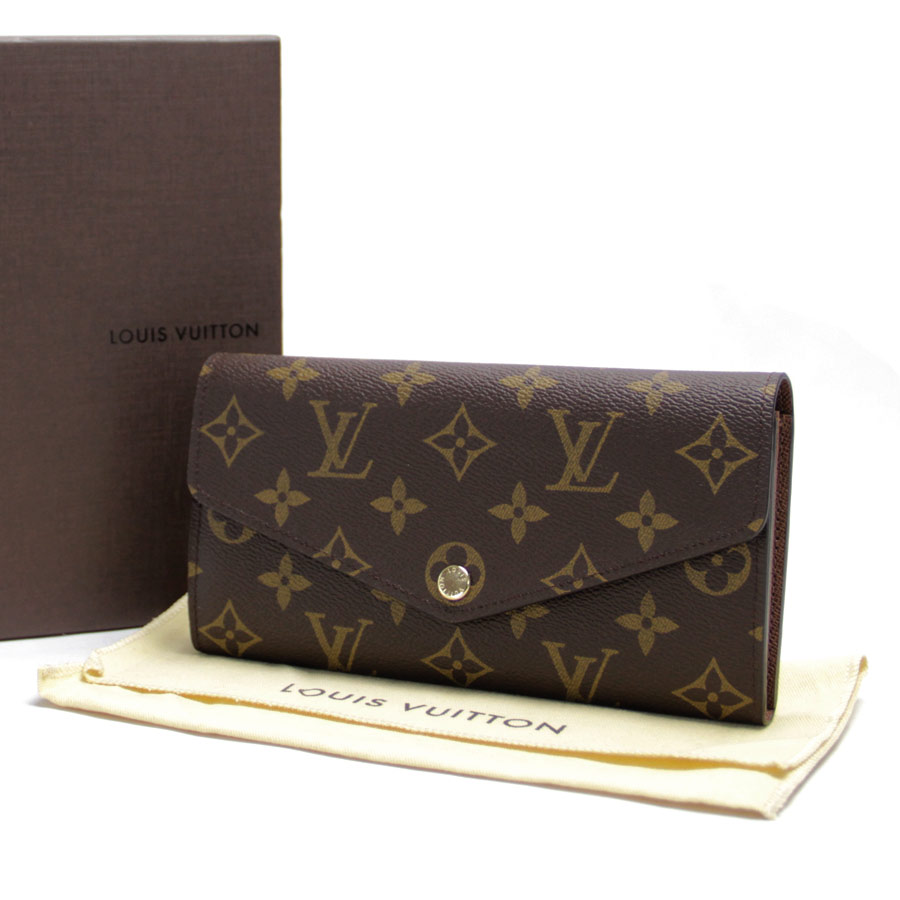 531498fa08c4  new article  There is Louis Vuitton  Louis Vuitton  ポルトフォイユ Sarah long wallet  brown monogram canvas reason