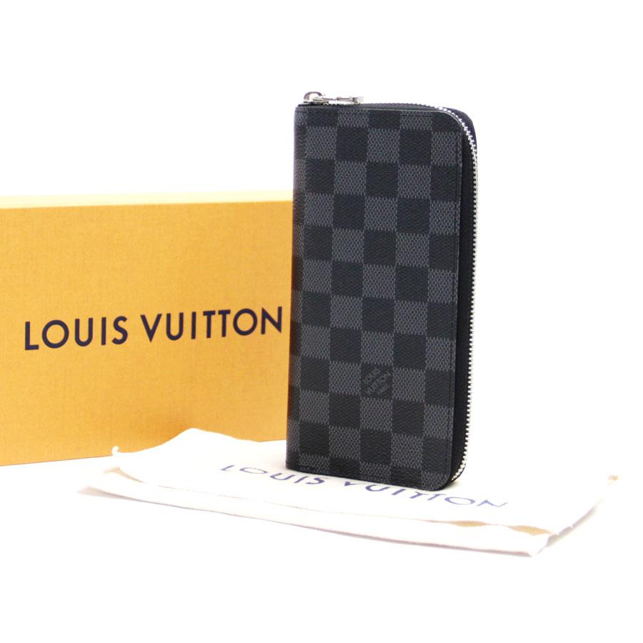 루이비통 Louis Vuitton 라운드 패스너장 지갑 다미에그라핏트포르트포이유・바스코브락크그레이다미에그라핏트캐바스 N61653 - b10158