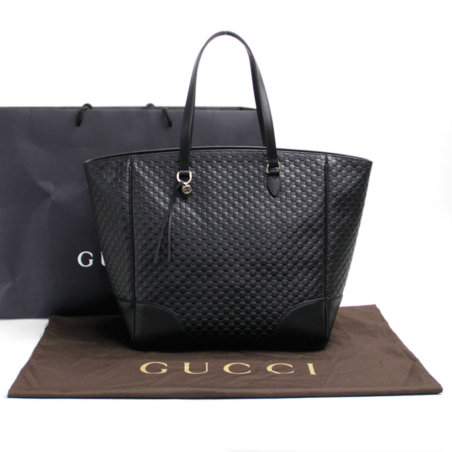 Gucci Gucci shoulder bag tote bag micro Gucci sima black leather x gold  metal fittings Lady\u0027s 449242 new , b10179