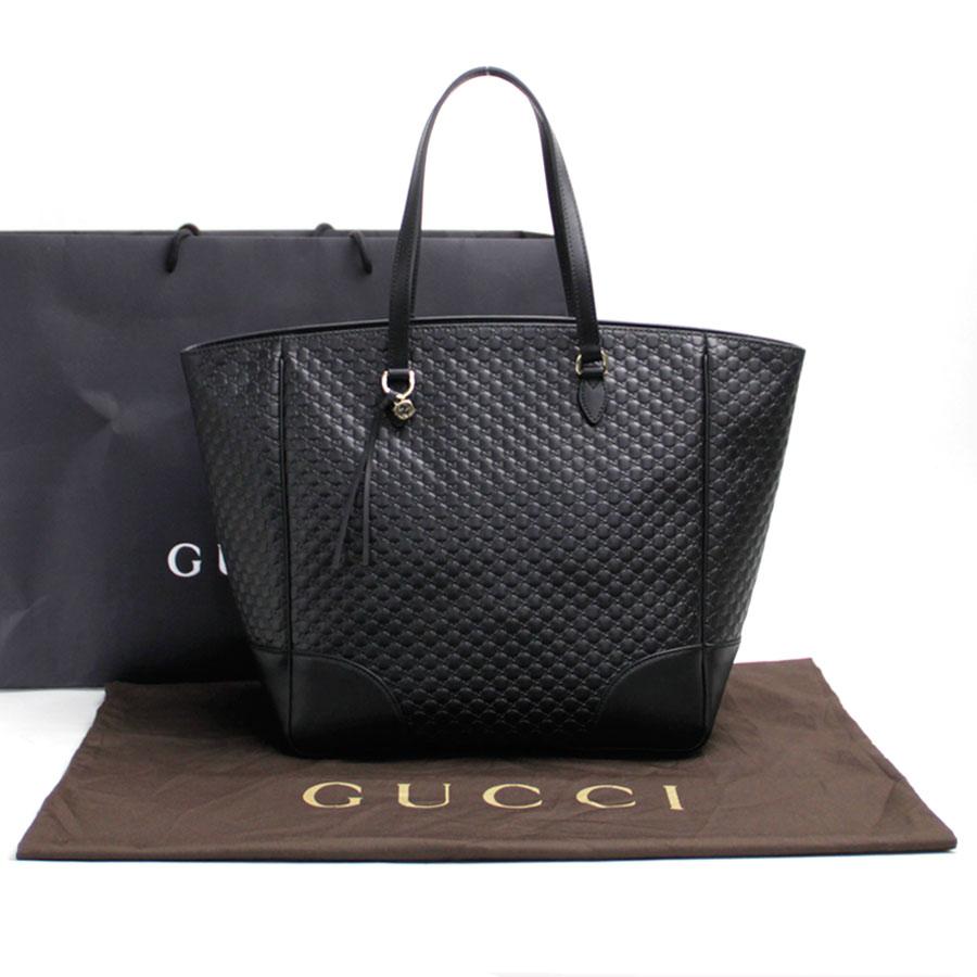 8e3f1ced654 Gucci Gucci shoulder bag tote bag micro Gucci sima black leather x gold  metal fittings Lady's 449242 new - b10179