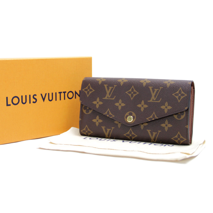 6c9345081c33 BrandValue  Louis Vuitton Louis Vuitton folio long wallet モノグラムポルトフォイユ Sarah  brown monogram canvas Lady s men M60531 new article - b10241 ...