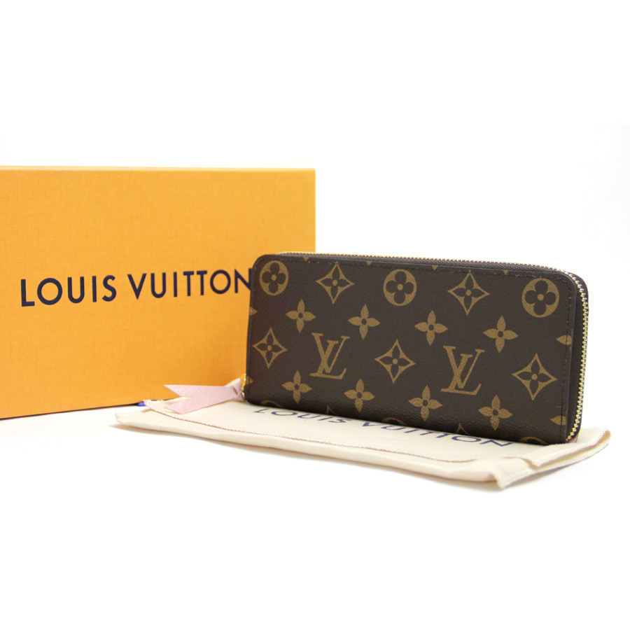 dbf09af5b3a  unused   new article  Louis Vuitton  LOUIS VUITTON  モノグラムキャンバスポルトフォイユ  Clement s round fastener long wallet Lady s Rose ...