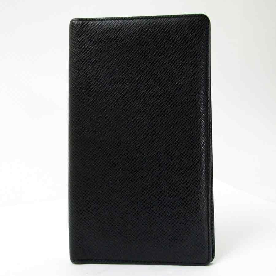 ルイヴィトン Louis Vuitton 二つ折り長札入れ タイガ ポルトシェキエカルトクレディ ノワール(ブラック) M30414 【中古】【おすすめ】 - t6320