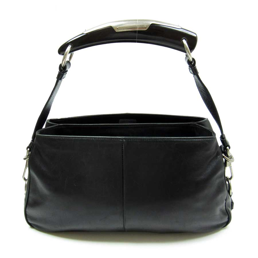 ce1a0384ba  basic popularity   used  Yves Saint-Laurent  YVES SAINT LAURENT  Mombasa  shoulder bag Lady s black leather