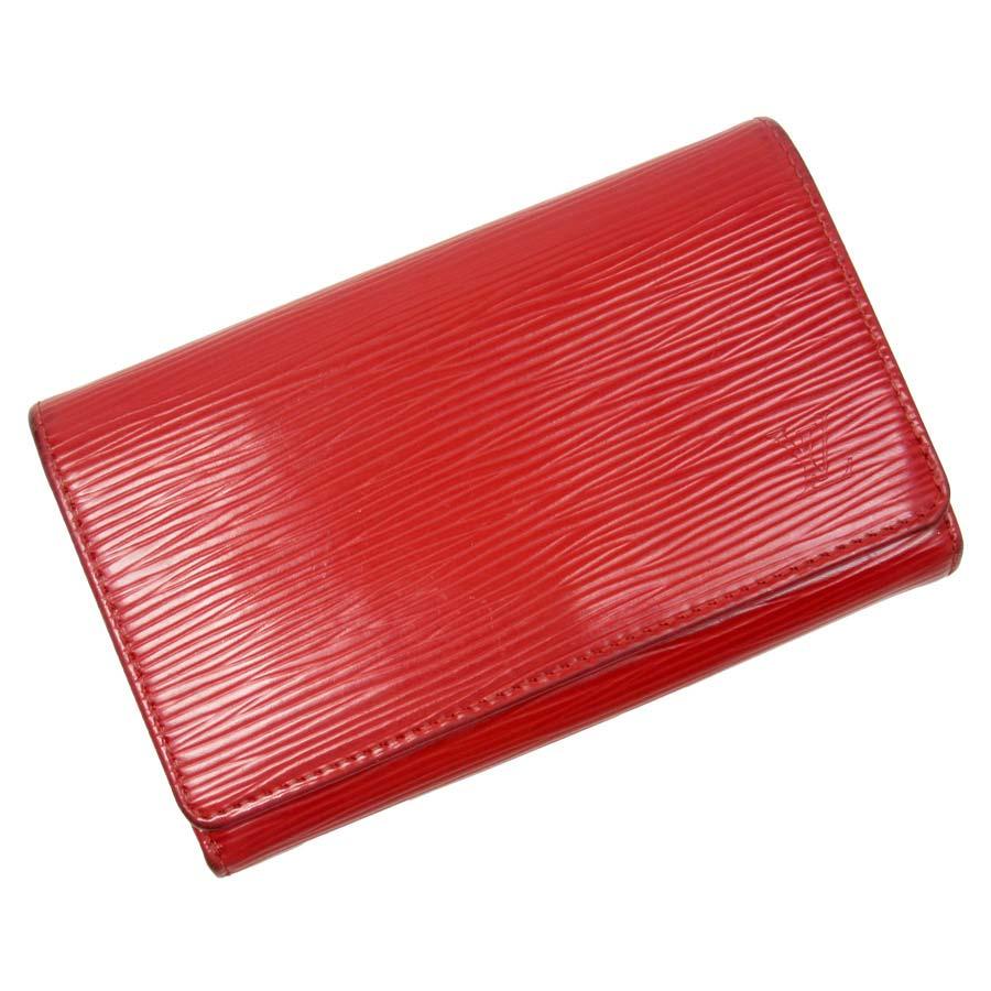 ルイヴィトン Louis Vuitton 二つ折り財布 エピ ポルトモネビエトレゾール 推定ルージュ エピレザー レディース M63507 【中古】【定番人気】 - t9204