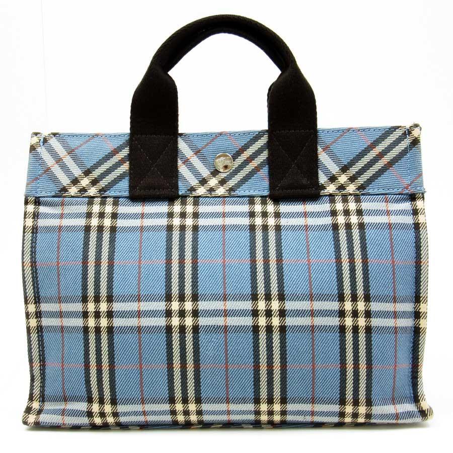 Tote bag burberry - Burberry Burberry Tote Bag Blue Label Blue X Brown Canvas Featured Ladies