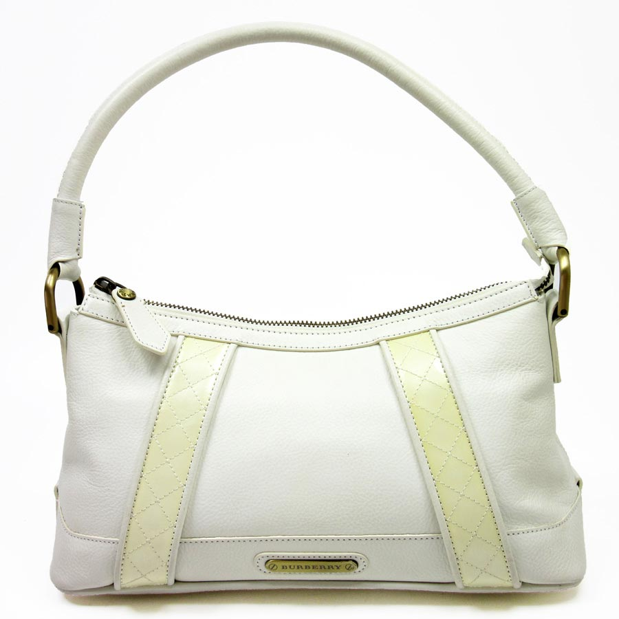 5bca861fb8 Brandvalue Burberry Shoulder Bag White Leather X Patent. Gallery. Burberry  Tote London Grainy Leather Medium Baynard In White Lyst