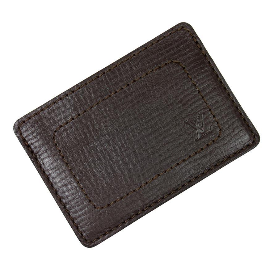ルイヴィトン Louis Vuitton カードケース パスケース ユタ ブラウン ユタレザー レディース メンズ 【中古】【定番人気】 - t9923