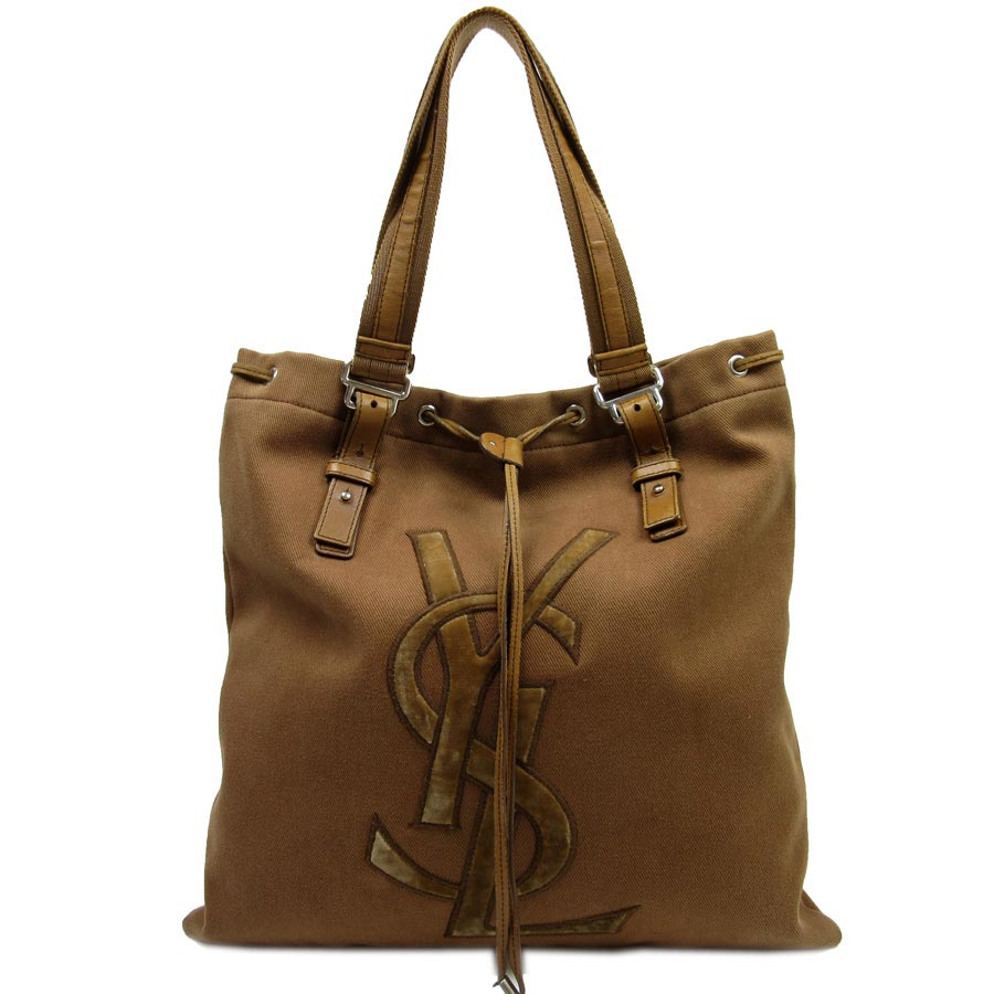 9227998560 BrandValue: Yves Saint-Laurent YVES SAINT LAURENT handbag tote bag KAHALA ◇  brown canvas x leather ◇ constant seller popularity ◇ Lady's men - t10033  ...
