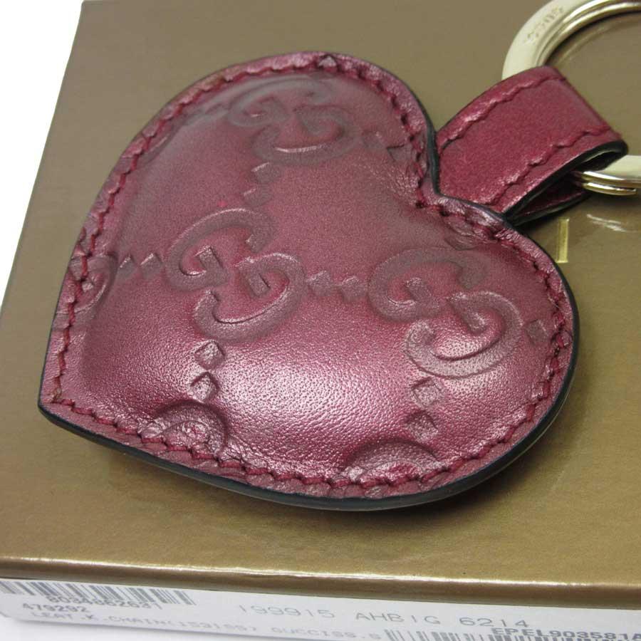 327a6ba10 ... Gucci GUCCI key ring key ring Gucci sima ◇ pink x gold Gucci sima  leather ◇