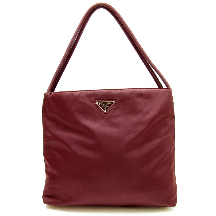 885979b1c2 Prada  PRADA  triangle logo shoulder bag Lady s wine red nylon  used   constant seller popularity