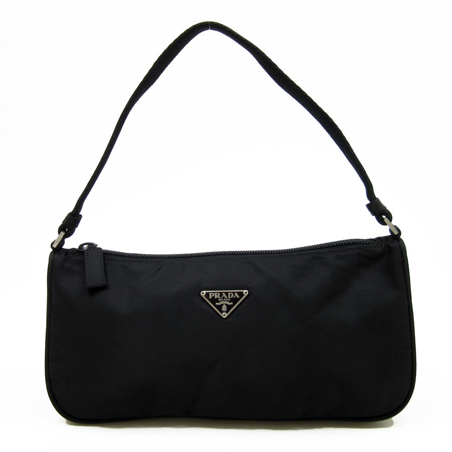 0bae3fc9ef99 Prada  PRADA  triangle logo mini-shoulder bag mini-handbag accessories  porch Lady s black nylon  used  constant seller popularity