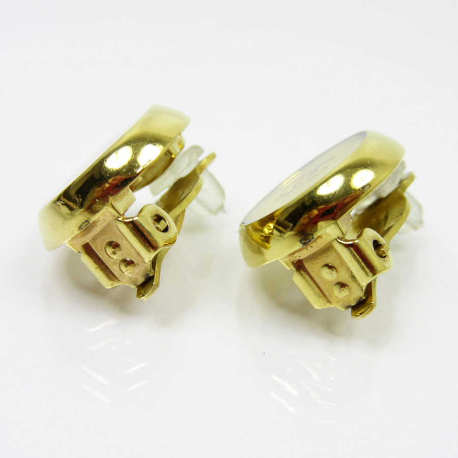 Chanel Earrings Here Mark Gold Metal Material Constant Er Pority Lady S Men T10262