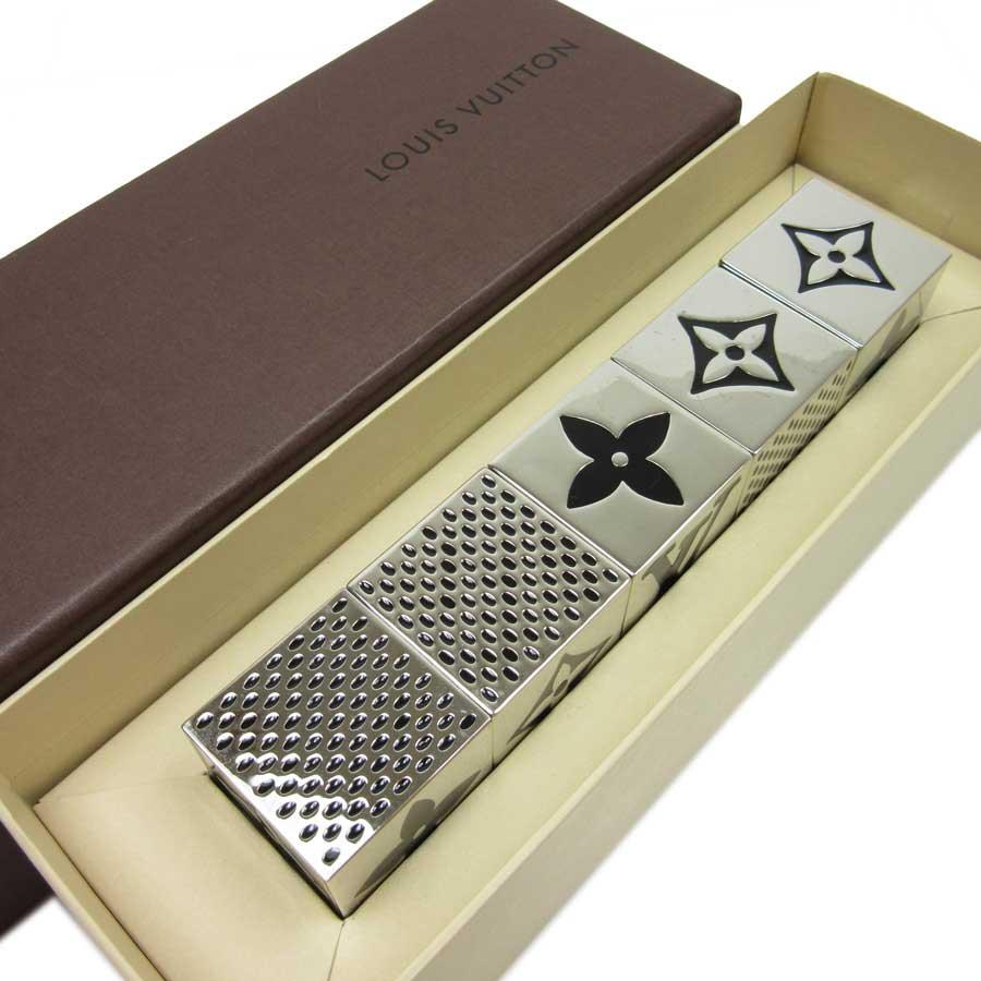 ルイヴィトン Louis Vuitton ダイス キューブ ダイスゲーム キューブ 非売品 ノベルティ シルバーxブラック パラジウムコーティング レディース メンズ M99454 【中古】【ノベルティ】 - t10324