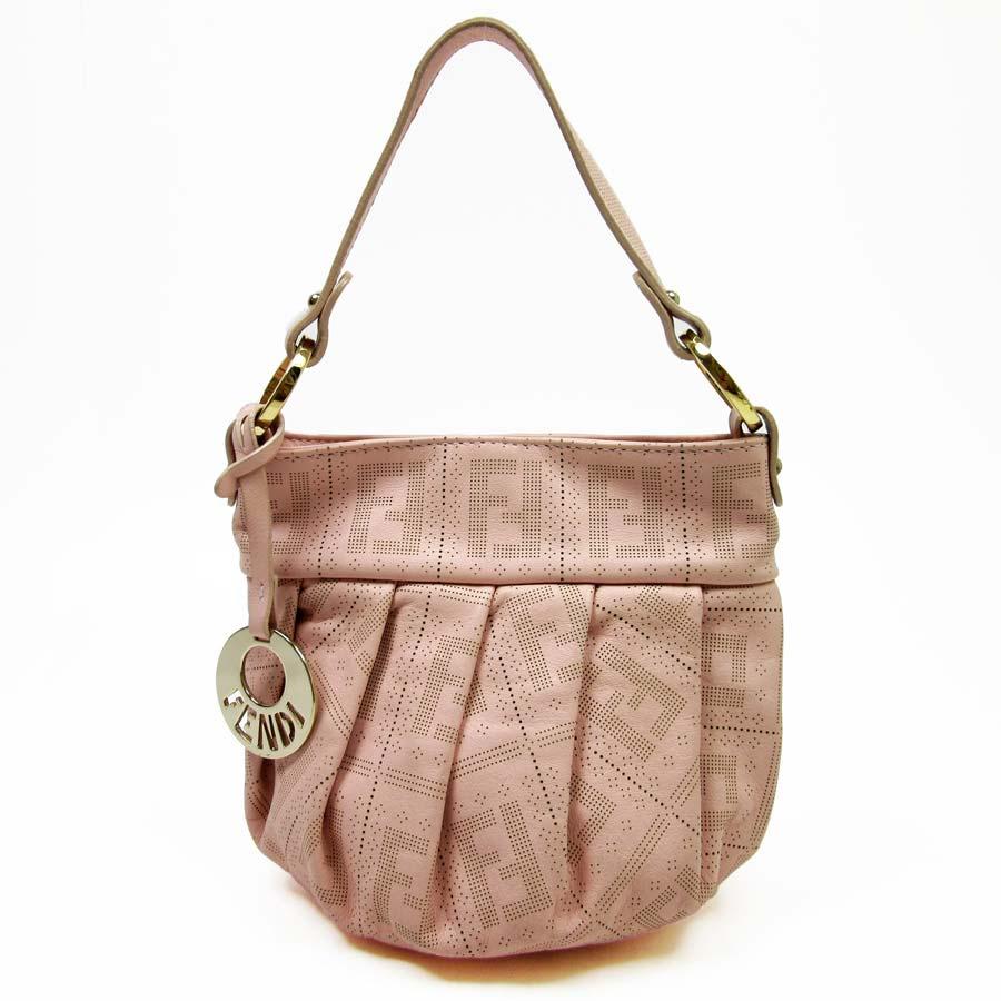 Fendi  FENDI  handbag Lady s pink leather  used  constant seller popularity
