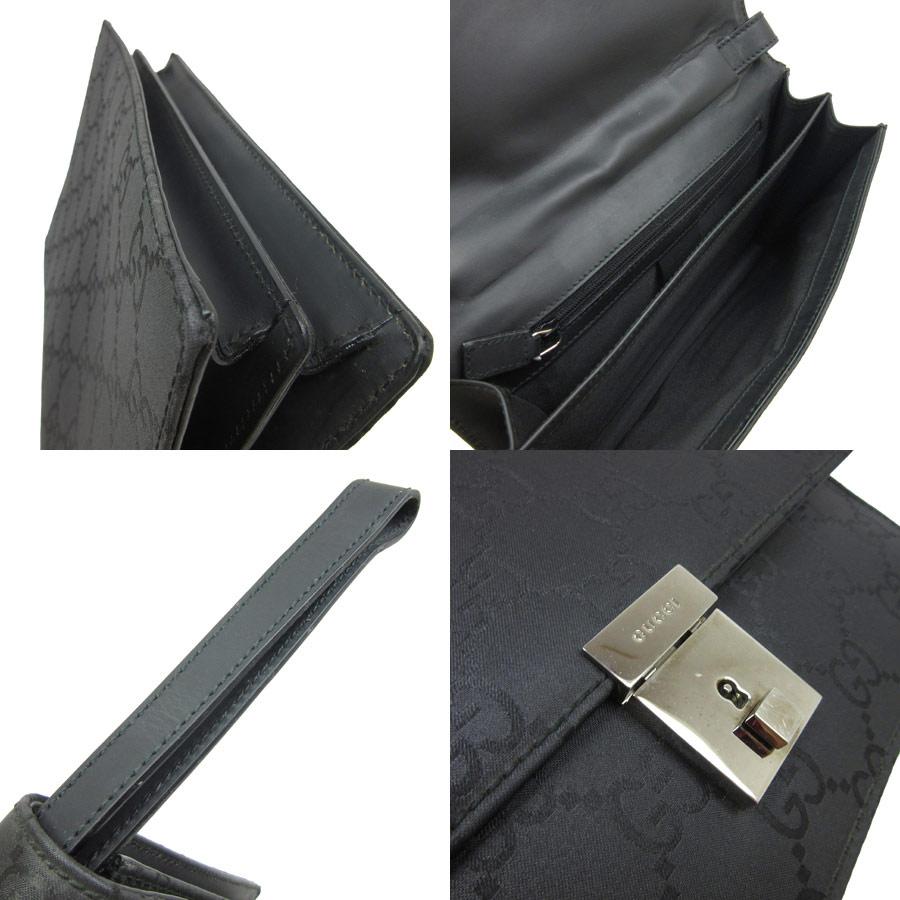 b844298bfc8 Gucci GUCCI clutch bag second bag GG pattern ◇ black x silver nylon canvas  ◇ constant seller popularity ◇ Lady s men - h13617