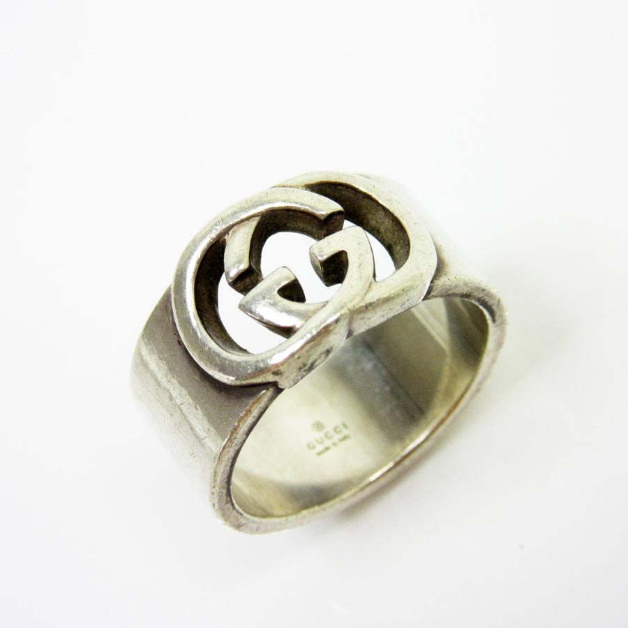 8fb866b9 Gucci GUCCI ring ring double G logo ◆ silver 925 ◆ constant seller  popularity ◆ Lady's men - t10584