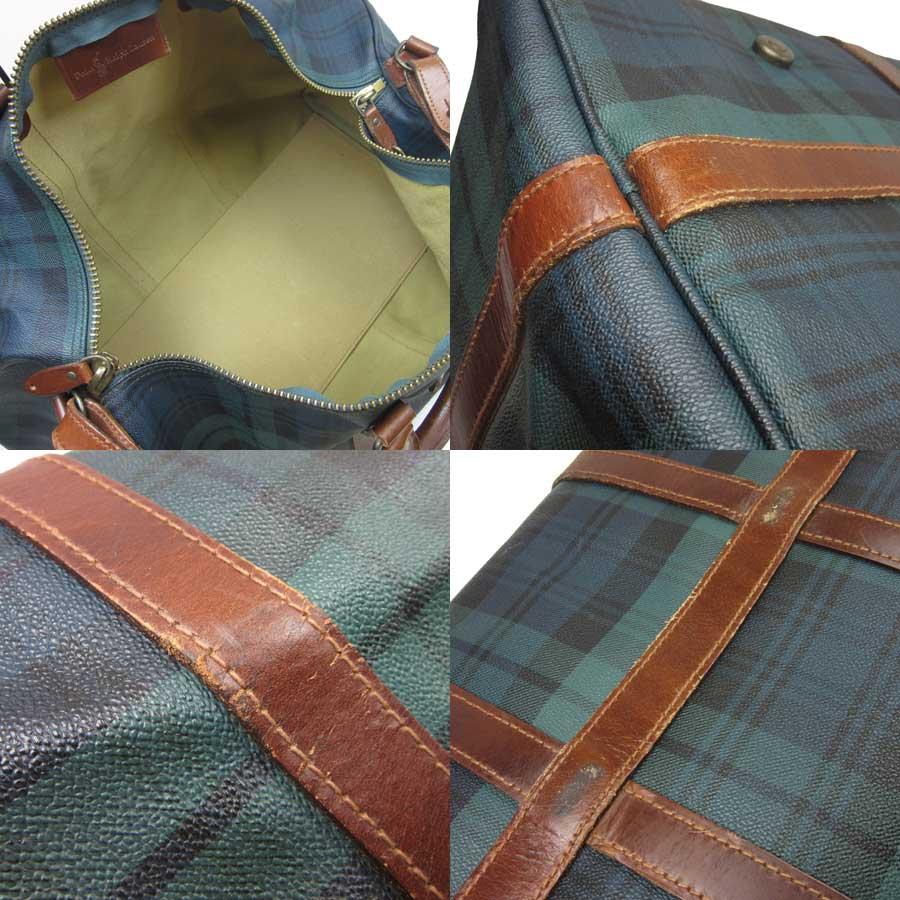 af76fc7aa20a Polo Ralph Lauren POLO RalphLauren handbag Boston bag travel bag ◇ green x  brown PVCx leather ◇ constant seller popularity ◇ Lady s men - h13849