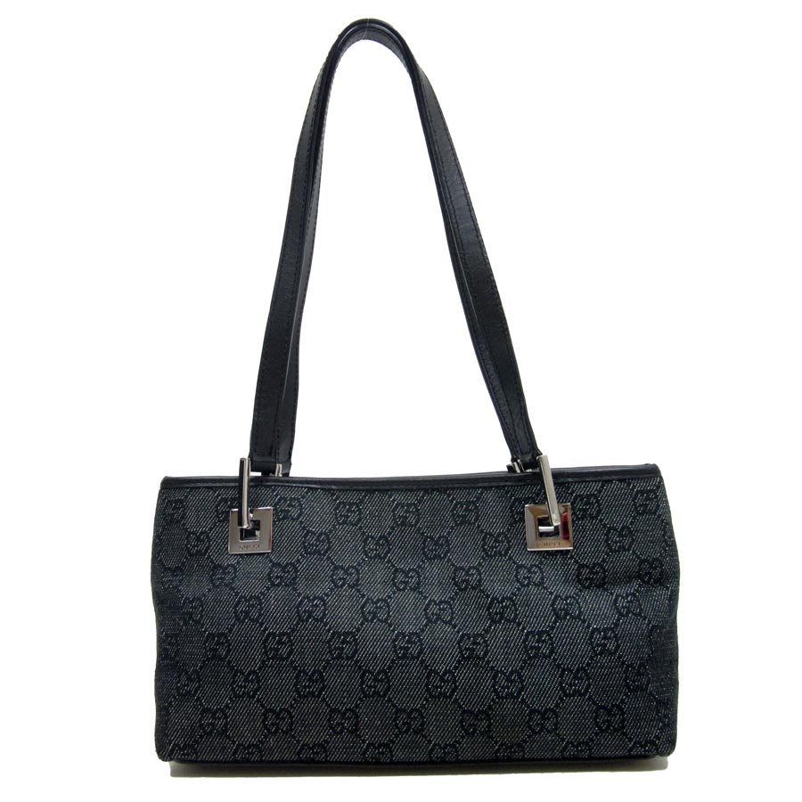 c3bcd538e90 Gucci  GUCCI  GG pattern mini-shoulder bag Lady s indigo x black denim  canvas x leather  used  constant seller popularity