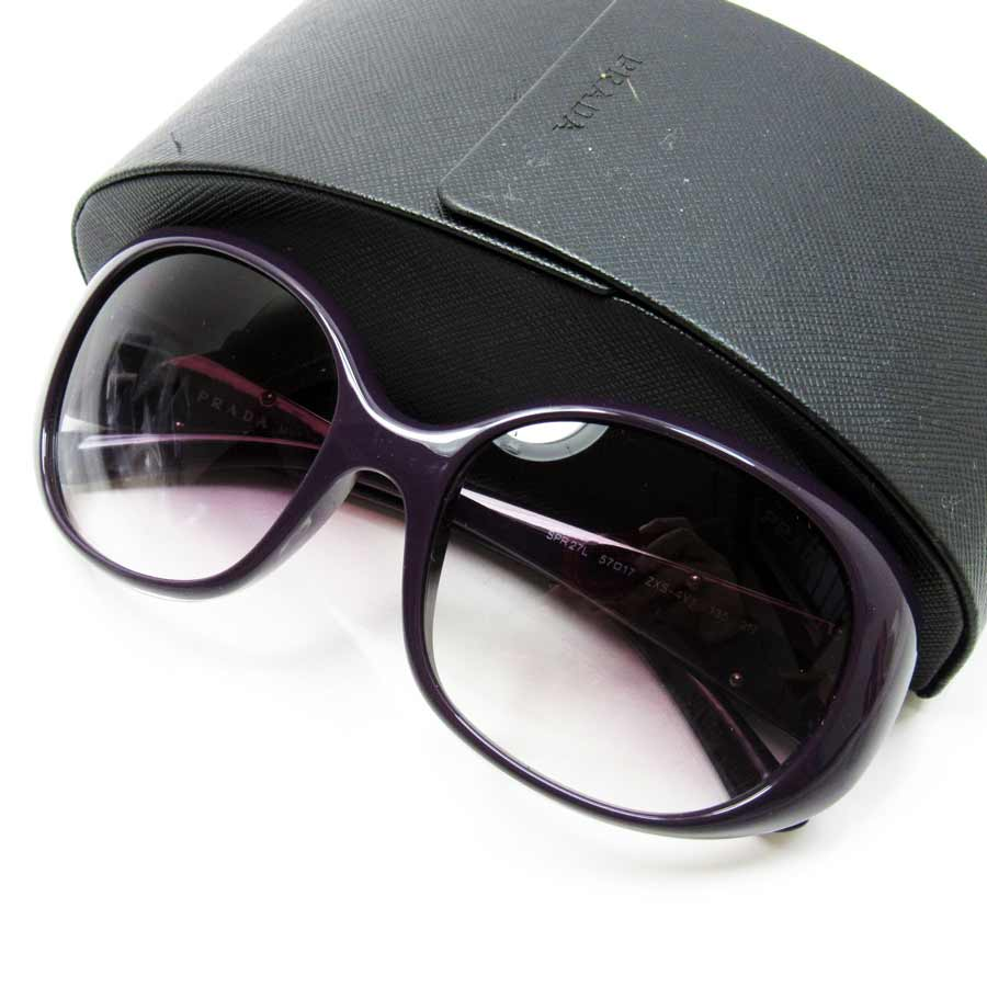 140ee241e025 BrandValue: Prada PRADA sunglasses 57 □ 17 135 triangle logo ◇ frame: A  dark purple lens: Clear purple plastic ◇ constant seller popularity ◇  Lady's ...