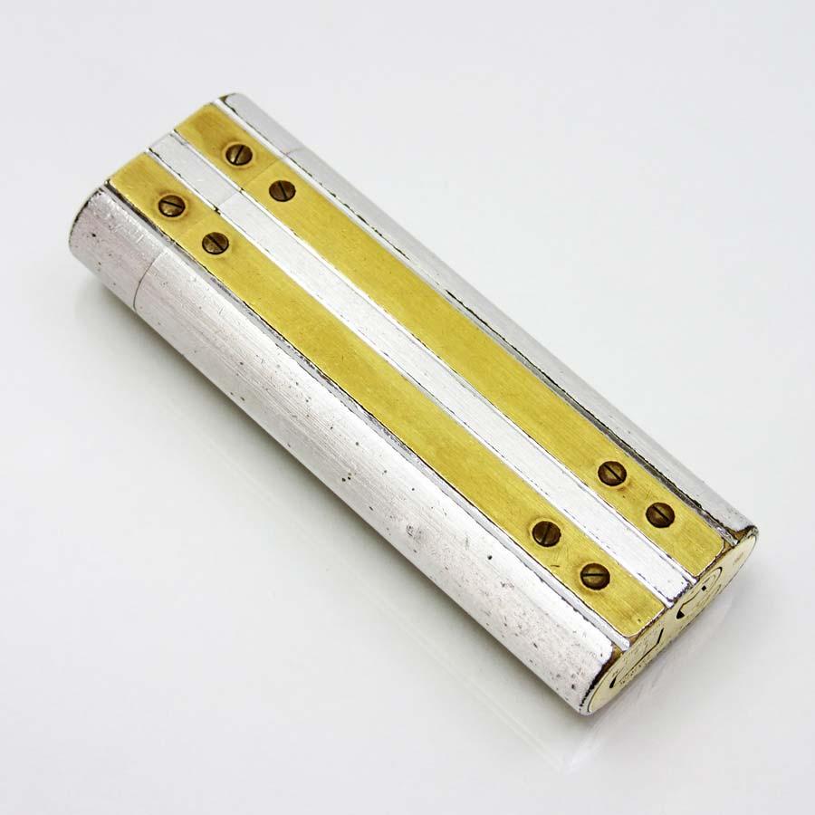 カルティエ ライター サントス ゴールドxシルバー 真鍮 Cartier レディース メンズ 【中古】【定番人気】 - t11384