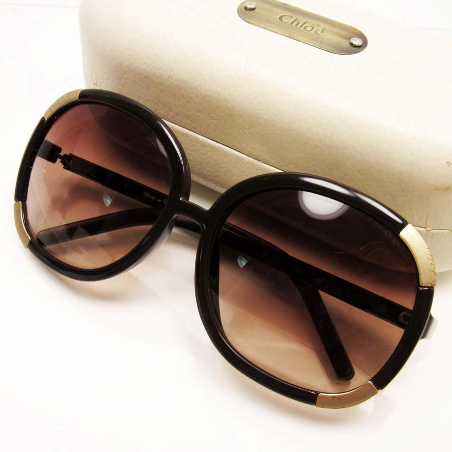741059d4ea  used  A Kuroe  Chloe  sunglasses 62 □ 15 120 lady s lens  A purple temple   There is brown   gold plastic x metal reason