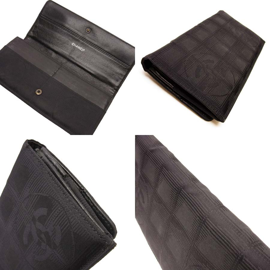 b57cdf1f246cfc [used] Chanel [CHANEL] current style bell line folio long wallet Lady's  France nylon jacquard constant seller popularity
