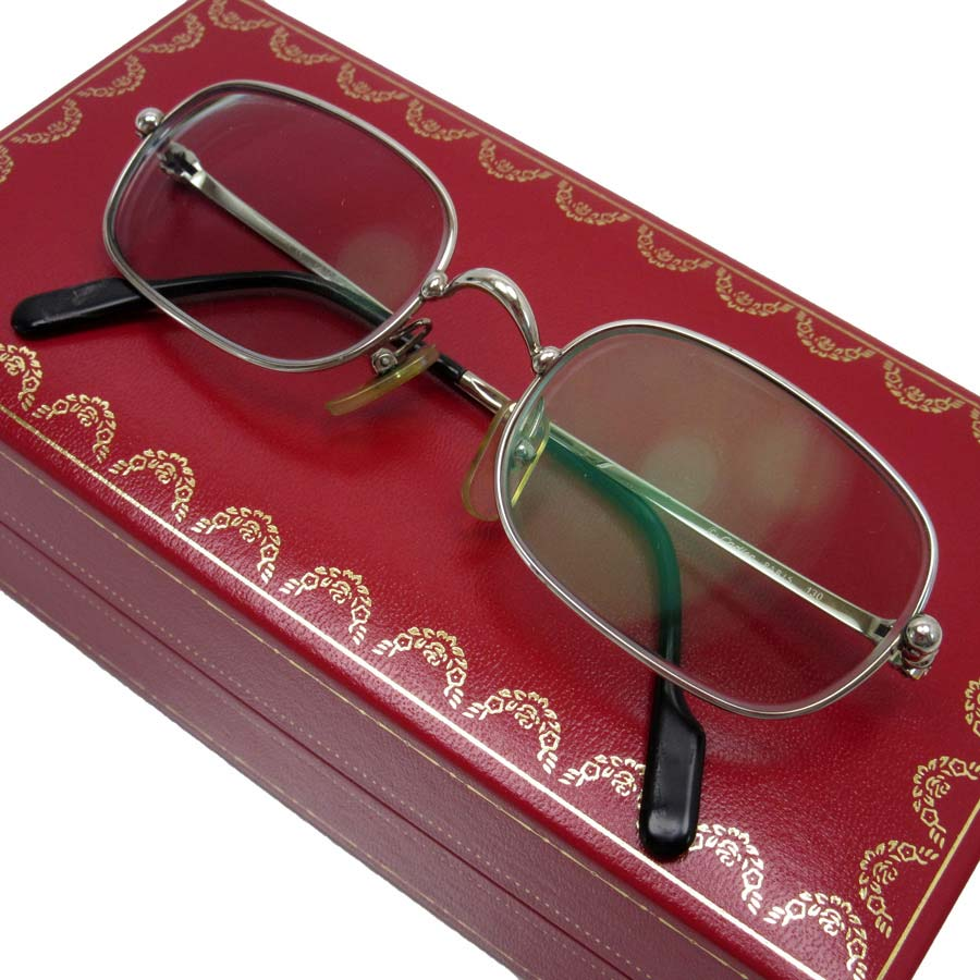 1518a301a BrandValue: Cartier Cartier glasses (there is a degree) 50 □ 19 130 ◇ frame:  Entering ◇ Lady's men degree - h15277 whom there is silver x gold SS ...