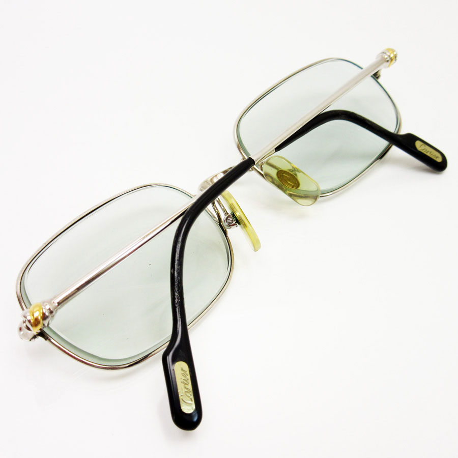 used a cartier cartier glasses there is a degree 50 19 130 ladys mens frame there is silver x gold ss reason - Cartier Frames For Men