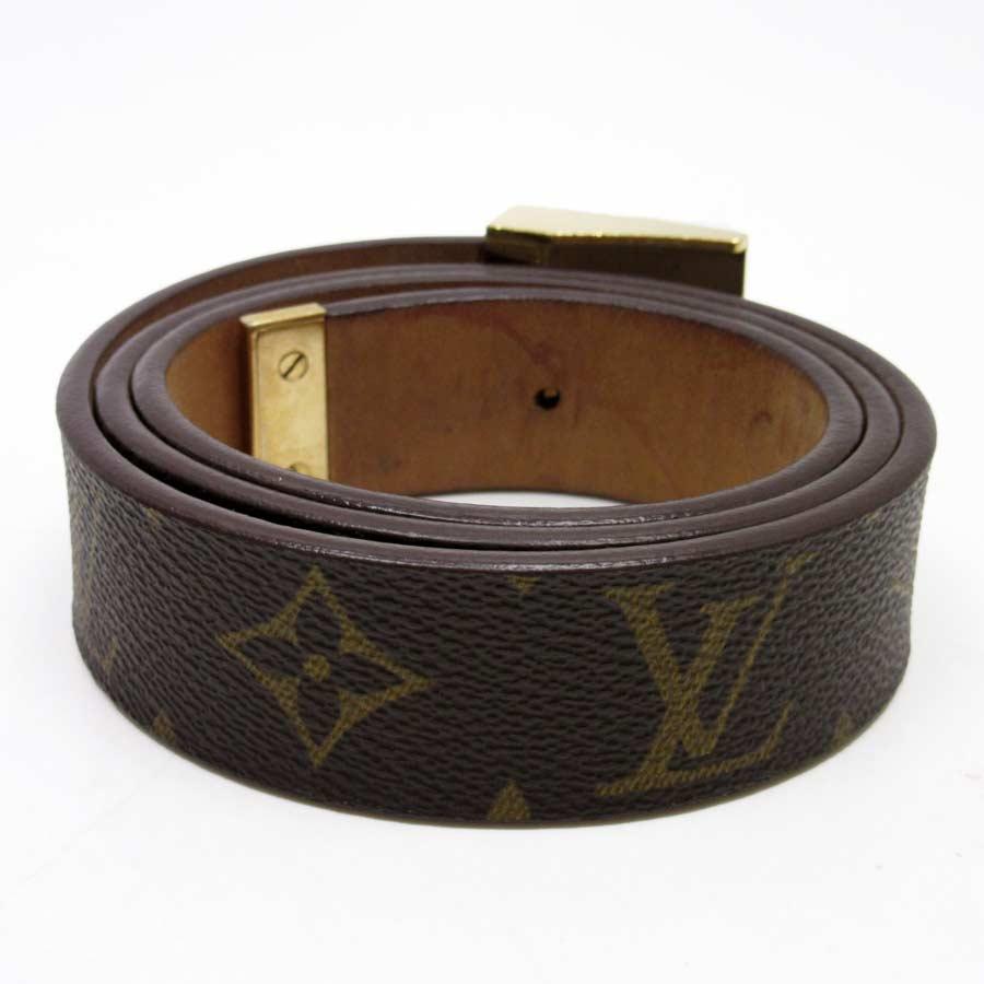 f0c2c73772d3  used  A Louis Vuitton  Louis Vuitton  monogram canvas sun Tulle square belt  Lady s men buckle  There is gold monogram reason
